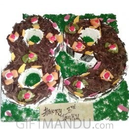 Birthday Number Cake (Choose Number)