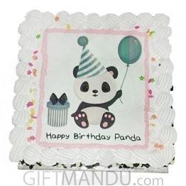 Panda Photo Cake for Kathmandu Valley