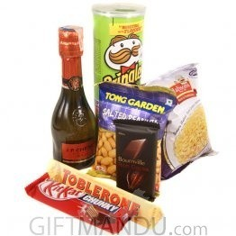 JP Chenet Sparkling Wine Mini with Snacks and Chocolates(7 items)