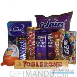 Mix Chocolates Bag for Kids (10 Chocolates)