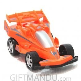 Powerful Friction Racing Car Pull and Go Toy (Orange)