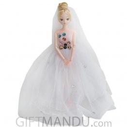 Beauty and Stylish Princess Doll - White Dress