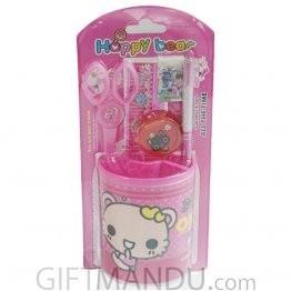 Happy Bear Pencil Holder Set (Pink)