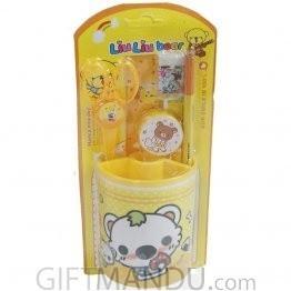 Happy Bear Pencil Holder Set (Yellow)