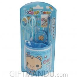 Happy Bear Pencil Holder Set (Blue)