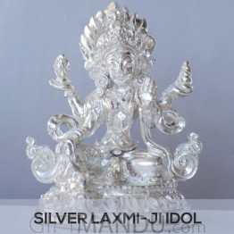 Silver Idol of Goddess Laxmi Ji