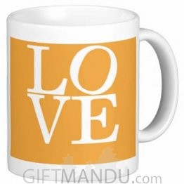 Valentine Love Mug With Personalized Message Print (Love)