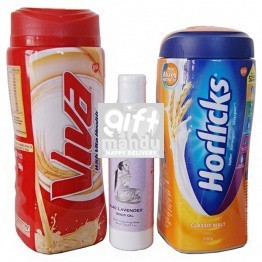 Herbal Body Massage Oil, Horlicks and Viva