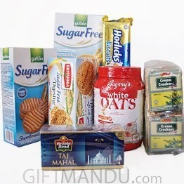 Healthy Goodies - Biscuits, Oats and Tea (7items)