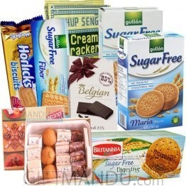 Assorted Mithai, Biscuits & Chocolate