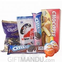 Yummy Chocolates, Kinder Joy, Oreo and Chocopie (5 Items)