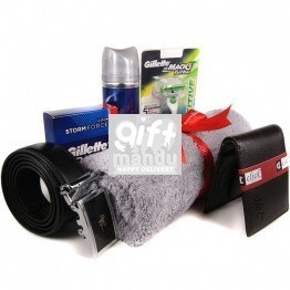 Essentials for Men - Shaving Kits, Leather Wallet and Belt