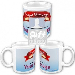 Personalized Coffee Mug with Customized Photo and Text Message
