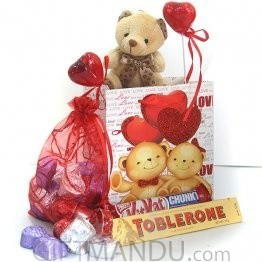 Sweet Love - Mini Teddy Chocolates Bag