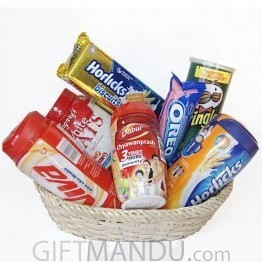 Gift Basket - Biscuits, Viva, Horlicks, and More