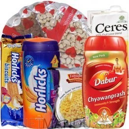 Dry Nuts Tray, Chyawanprash and Healthy Goodies (6 items)