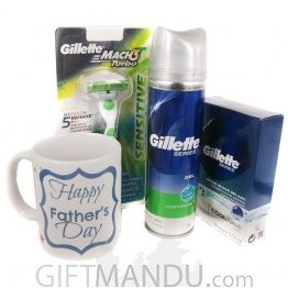 Gillette's Shaving Kits with Beautiful Father's Day Coffee Mug