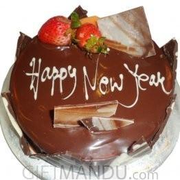 Chocolate Truffle New Year Cake from Star Hotel
