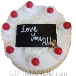 Delicious Five Star White Forest Cake For Kathmandu Valley
