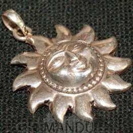 Silver Pendant - Sun