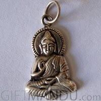 Sterling Silver Buddha Pendant