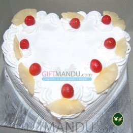 Heart Pineapple Cake from Hotel Annapurna