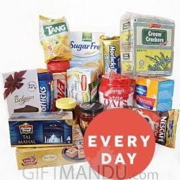 Everyday Package - Biscuits, Oats, Horlicks, Viva, Tea, Coffee, Sweets and more (17 Items) (MD-91021)