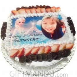Princess Photo Round Cake for Little Princess for Kathmandu Valley