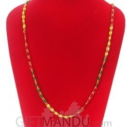 Pote Mala Bright Green, Yellow And Red- Shrawan Specials
