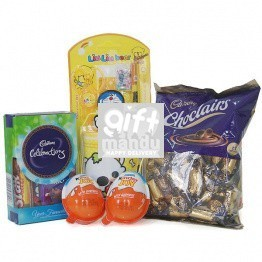 Rakhi Thread with Cute Pencil Holder Set and Chocolates for Kids