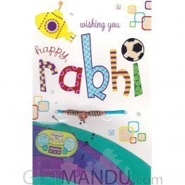 Wishing You Happy Rakhi - Rakhi Thread Greeting Card