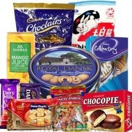 Chocolates, Cookies, Juice, Snacks, Soan Papdi (10 Items)