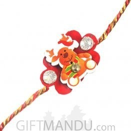Red Rakhi Thread for Kids