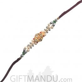 Kanhaiya Rakhi - Decorated With Stones & Pearls