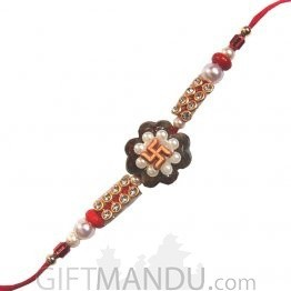 Beautiful Swastika Rakhi For Brother