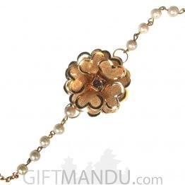 Beautiful Golden Rose Bracelet Rakhi