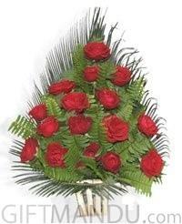 Red Roses Basket for Pokhara
