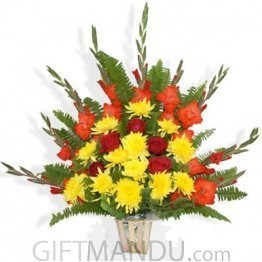 Rose Godawari Red Glad Special Basket