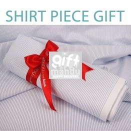 Fine Blue Stripe Shirt Piece Gift (2.5 Mts) - Quality Fabric