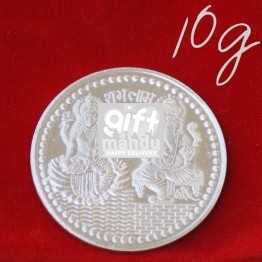 Lord Ganesh Ji and Goddess Laxmi - Silver Coin (10g)