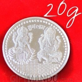 Lord Ganesh Ji and Goddess Laxmi - Silver Coin (20g)