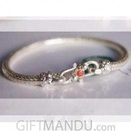 Silver Bracelet - Snake Design