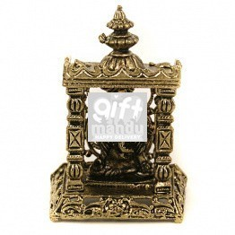 Metal Ganesh Temple Small God Idol (2 inch)