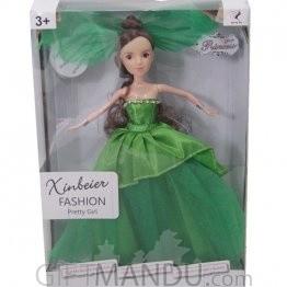 Xinbeier Fashion Pretty Girl Doll (Green Dress)