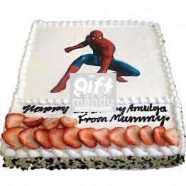 Spiderman Photo Print Birthday Cake from Star Hotel