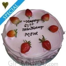Five Star Treats of Strawberry Pink Love Cake