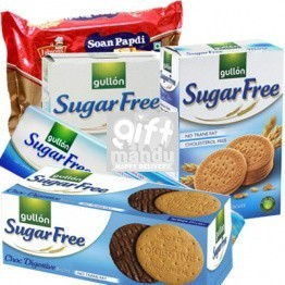 Sugar Free Biscuits and Sugar Free Soan Papdi (5 Items)
