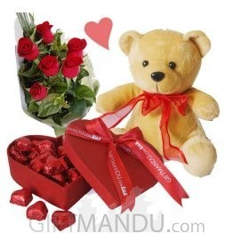 Chocolates, Roses and Teddy Bear for My Valentine