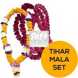 Tihar Mala Set - Sayapatri and Supari Phool Makhamali Mala