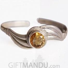 Silver Bracelet - Topaz Stone